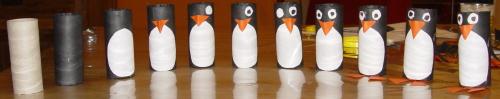 de geboorte van een pinguin